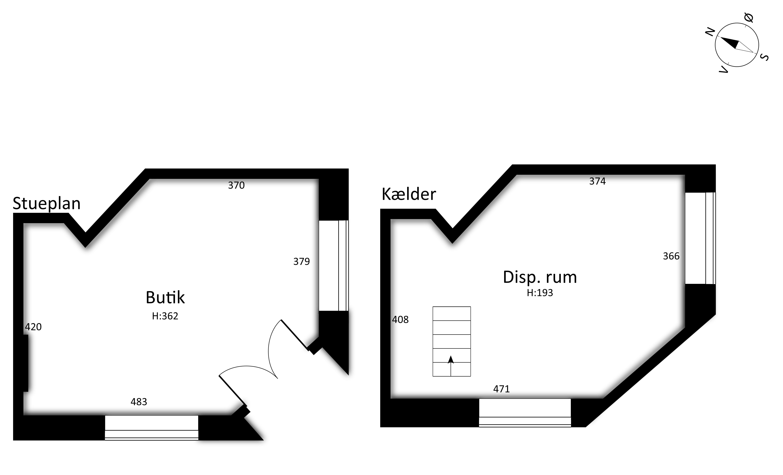 Stueplan og kælder