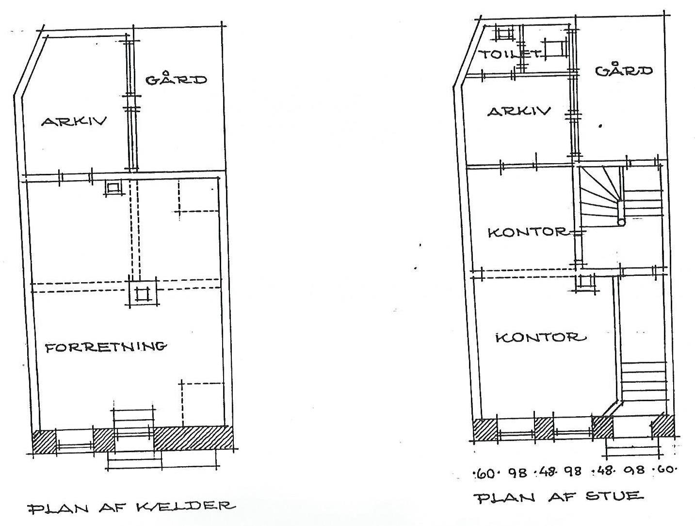 Kælder og stueplan