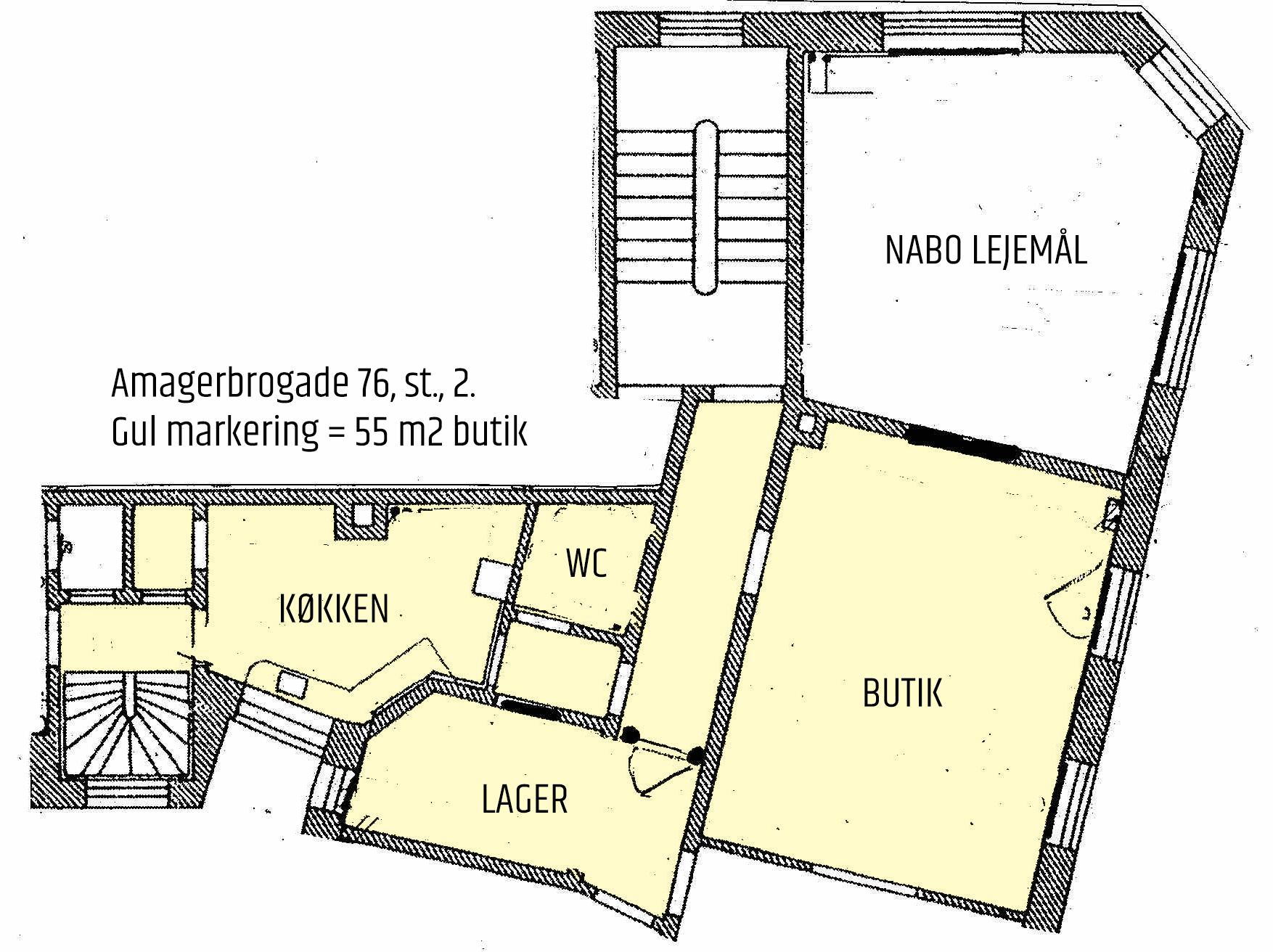 55 m2 erhvervsandel